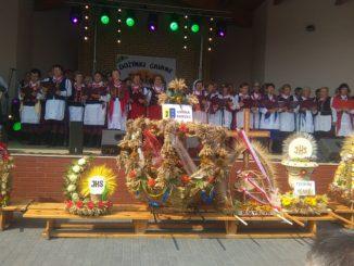 Zespoły z naszej gminy na scenie podczas dożynek w Mircu